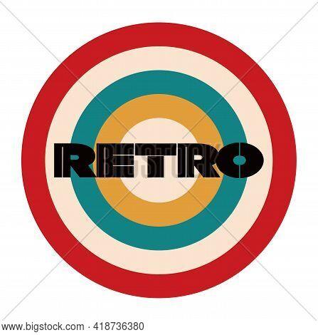 Retro Vector Design With 60's 70's Colour Bars