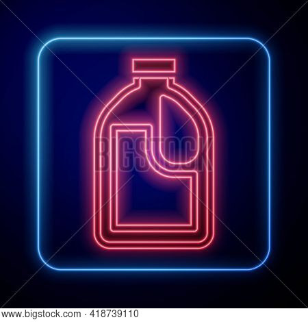 Glowing Neon Plastic Bottle For Laundry Detergent, Bleach, Dishwashing Liquid Or Another Cleaning Ag
