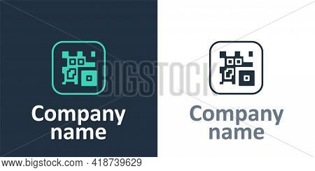 Logotype Qr Code Sample For Smartphone Scanning Icon Isolated On White Background. Logo Design Templ