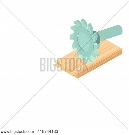 Tslot Cutter Icon. Isometric Illustration Of Tslot Cutter Vector Icon For Web