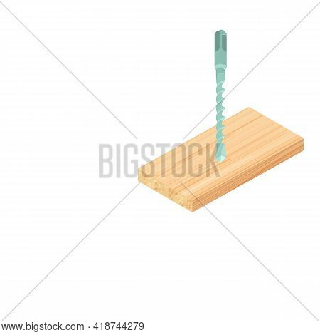 Hammer Bit Icon. Isometric Illustration Of Hammer Bit Vector Icon For Web