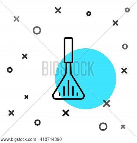Black Line Barbecue Spatula Icon Isolated On White Background. Kitchen Spatula Icon. Bbq Spatula Sig