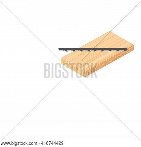 Reverse Sawblade Icon. Isometric Illustration Of Reverse Sawblade Vector Icon For Web