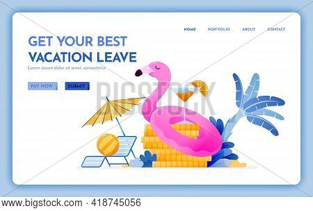 Travel Website With The Theme Of Get Your Best Vacation Leave. Cheap Tropical Beach Destination For