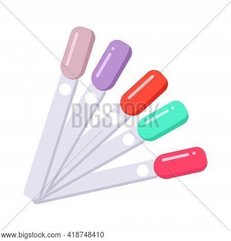 Nail Polish Palette. Manicure Tools. Fashionable Gel Polish For A Beauty Studio. Multi Color Choice