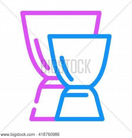Jiggers Bartender Color Icon Vector. Jiggers Bartender Sign. Isolated Symbol Illustration