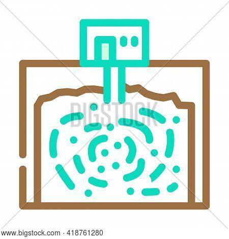 Underground Storage Bacteria Biogas Color Icon Vector. Underground Storage Bacteria Biogas Sign. Iso