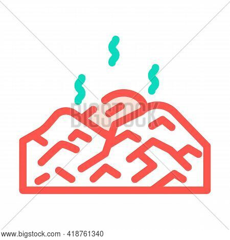 Landfill Gas Biogas Color Icon Vector. Landfill Gas Biogas Sign. Isolated Symbol Illustration