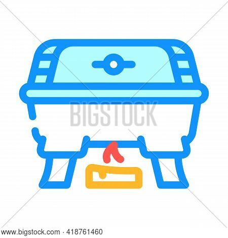 Bbq Equipment Buffet Color Icon Vector. Bbq Equipment Buffet Sign. Isolated Symbol Illustration