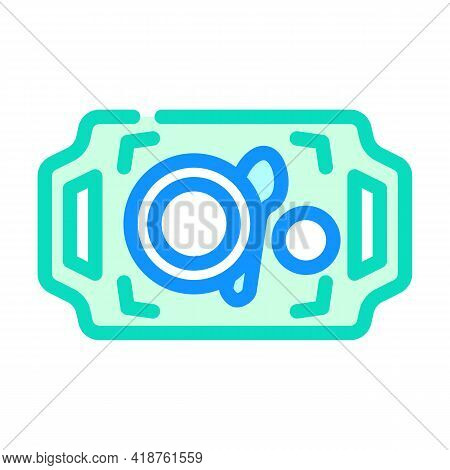 Dishware On Tray Buffet Color Icon Vector. Dishware On Tray Buffet Sign. Isolated Symbol Illustratio