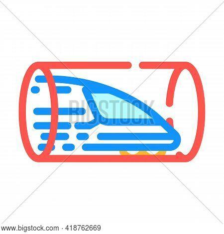 Hyperloop Railway Color Icon Vector. Hyperloop Railway Sign. Isolated Symbol Illustration