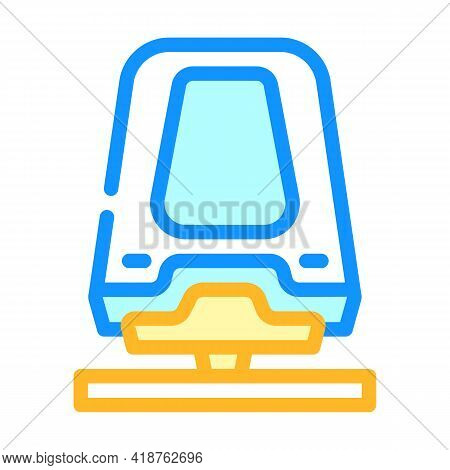 Maglev Railway Color Icon Vector. Maglev Railway Sign. Isolated Symbol Illustration