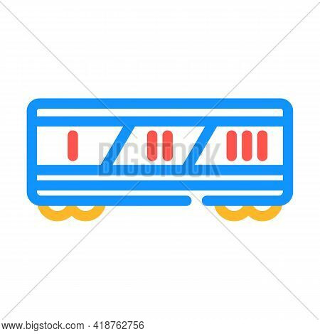 Division By Class Railway Color Icon Vector. Division By Class Railway Sign. Isolated Symbol Illustr