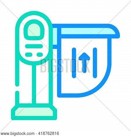 Limiter Railway Color Icon Vector. Limiter Railway Sign. Isolated Symbol Illustration