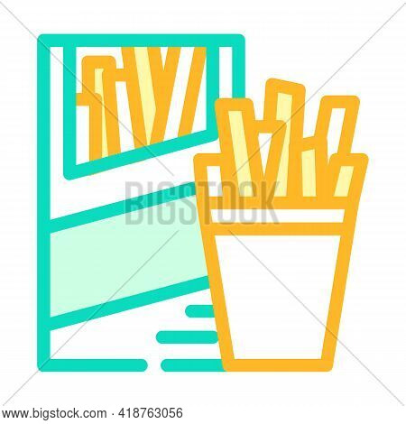 Straws Snack Color Icon Vector. Straws Snack Sign. Isolated Symbol Illustration