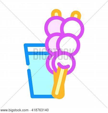 Dango Snack Color Icon Vector. Dango Snack Sign. Isolated Symbol Illustration