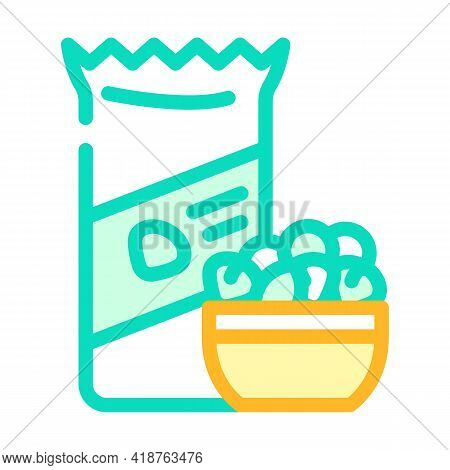 Nuts Snack Color Icon Vector. Nuts Snack Sign. Isolated Symbol Illustration