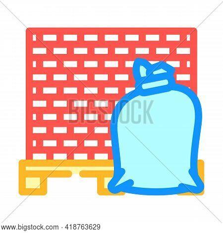 Building Materials Wholesale Color Icon Vector. Building Materials Wholesale Sign. Isolated Symbol I