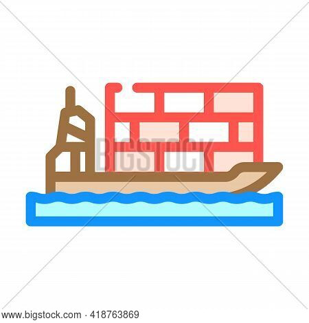 Sea Transportation Wholesale Color Icon Vector. Sea Transportation Wholesale Sign. Isolated Symbol I