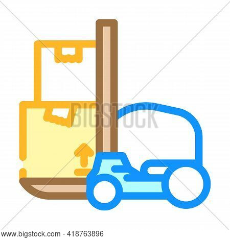 Loader Wholesale Color Icon Vector. Loader Wholesale Sign. Isolated Symbol Illustration