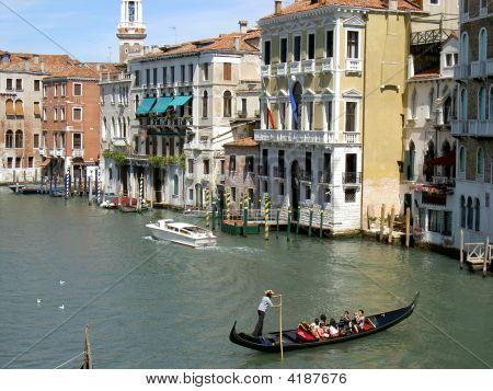 Gondola And Motor Boat