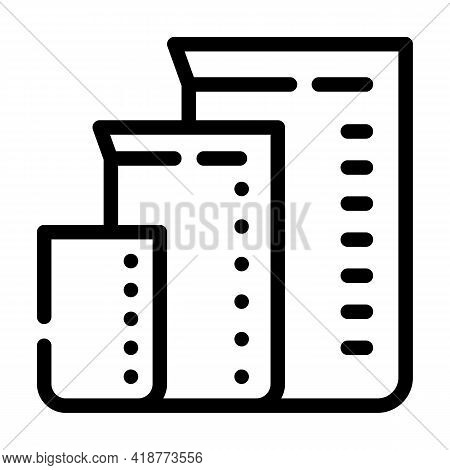 Measuring Cups For Mixing Bartender Line Icon Vector. Measuring Cups For Mixing Bartender Sign. Isol