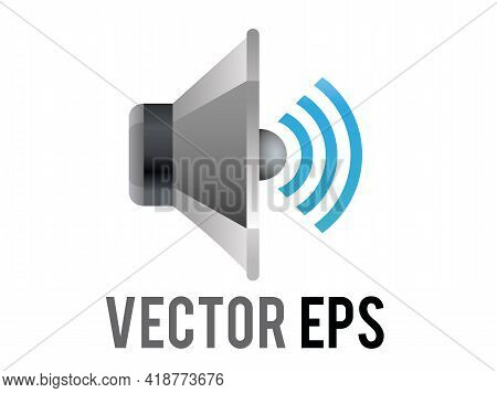 The Isolated Vector Silver And Black Circle Sound Music Muted Speaker High Volume Cone Displayed Ico