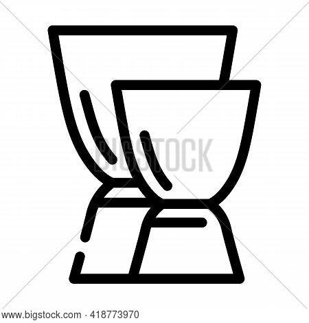 Jiggers Bartender Line Icon Vector. Jiggers Bartender Sign. Isolated Contour Symbol Black Illustrati