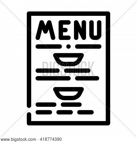 Menu Buffet Line Icon Vector. Menu Buffet Sign. Isolated Contour Symbol Black Illustration