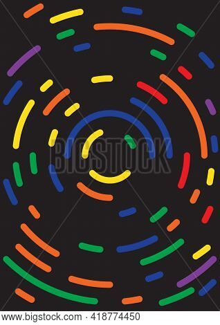 Business Card With Bright Geometric Energetic Shapes, Modern Design. Vector Illustration.