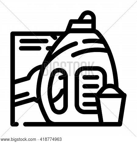 Color Preservation Detergent Line Icon Vector. Color Preservation Detergent Sign. Isolated Contour S