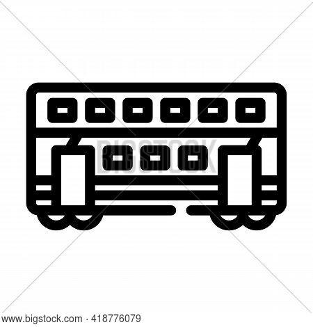 Double-deck Wagon Line Icon Vector. Double-deck Wagon Sign. Isolated Contour Symbol Black Illustrati