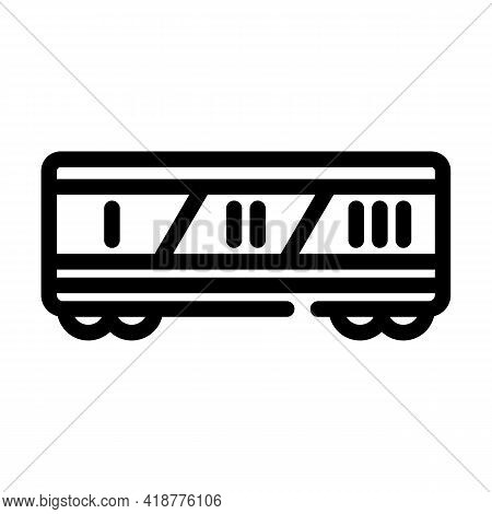 Division By Class Railway Line Icon Vector. Division By Class Railway Sign. Isolated Contour Symbol