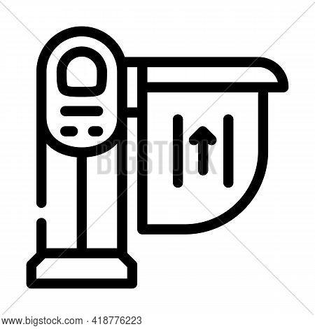 Limiter Railway Line Icon Vector. Limiter Railway Sign. Isolated Contour Symbol Black Illustration