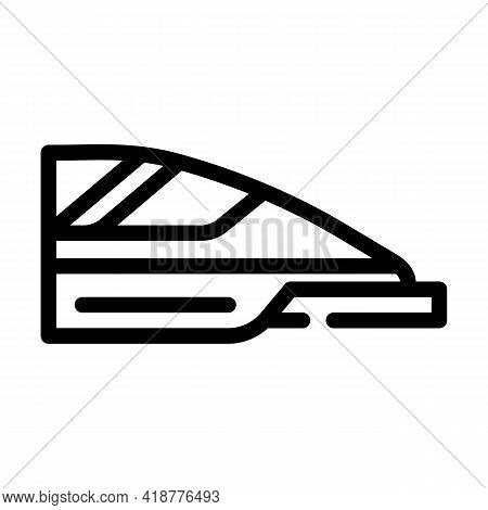 High Speed Train Line Icon Vector. High Speed Train Sign. Isolated Contour Symbol Black Illustration
