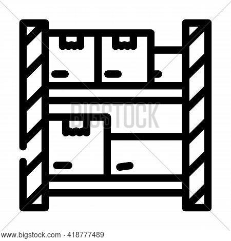 Warehouse Shelves Wholesale Line Icon Vector. Warehouse Shelves Wholesale Sign. Isolated Contour Sym