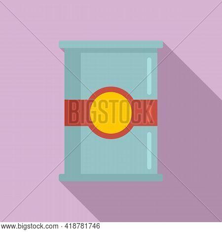 Flour Jar Icon. Flat Illustration Of Flour Jar Vector Icon For Web Design