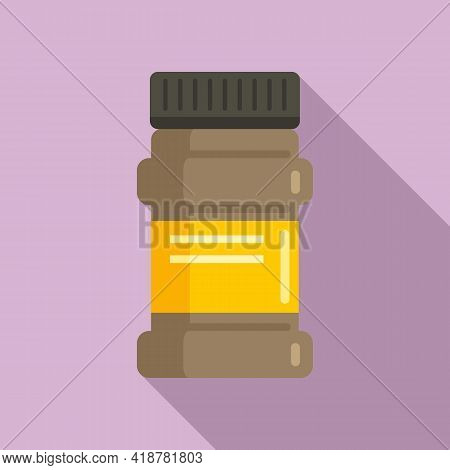 Cocoa Jar Icon. Flat Illustration Of Cocoa Jar Vector Icon For Web Design