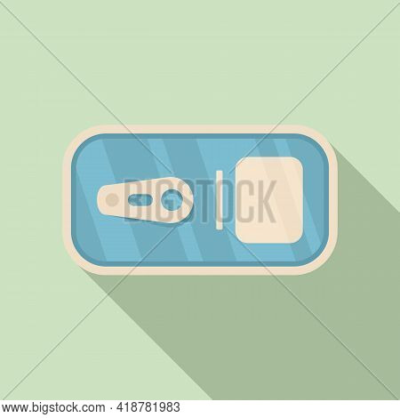 Top View Tin Can Icon. Flat Illustration Of Top View Tin Can Vector Icon For Web Design