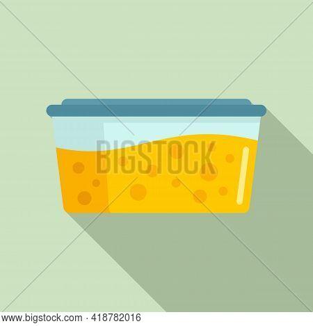 Full Food Box Icon. Flat Illustration Of Full Food Box Vector Icon For Web Design