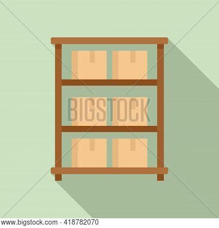 Parcel Food Storage Icon. Flat Illustration Of Parcel Food Storage Vector Icon For Web Design