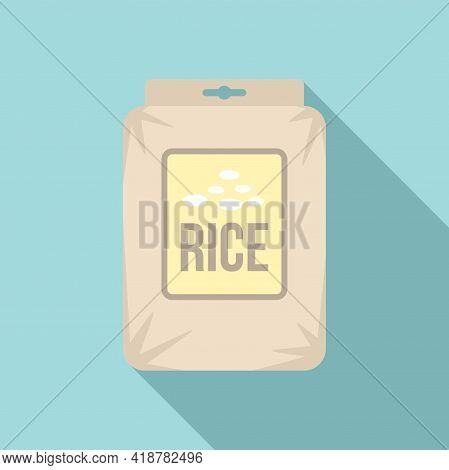 Rice Pack Icon. Flat Illustration Of Rice Pack Vector Icon For Web Design