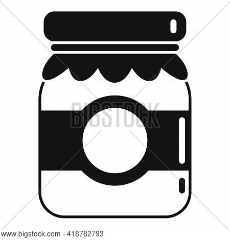 Berry Jam Jar Icon. Simple Illustration Of Berry Jam Jar Vector Icon For Web Design Isolated On Whit