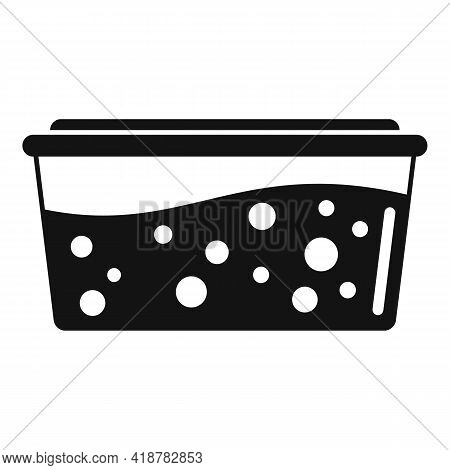 Full Food Box Icon. Simple Illustration Of Full Food Box Vector Icon For Web Design Isolated On Whit