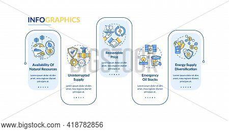 Energy Safety Parts Vector Infographic Template. Diversification, Emergency Presentation Design Elem
