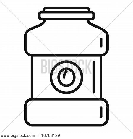 Peach Jar Icon. Outline Peach Jar Vector Icon For Web Design Isolated On White Background