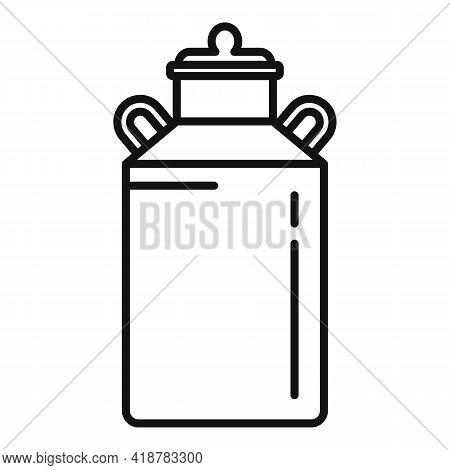Milk Barrel Icon. Outline Milk Barrel Vector Icon For Web Design Isolated On White Background
