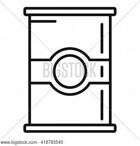 Flour Jar Icon. Outline Flour Jar Vector Icon For Web Design Isolated On White Background