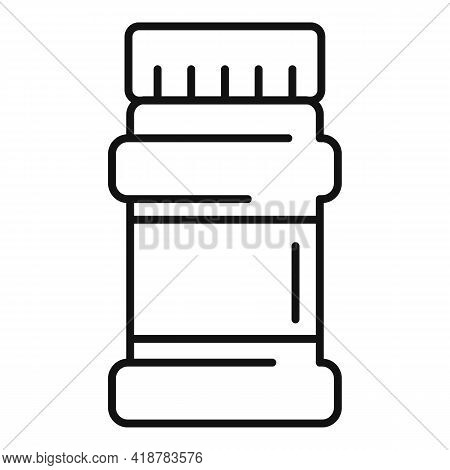 Cocoa Jar Icon. Outline Cocoa Jar Vector Icon For Web Design Isolated On White Background