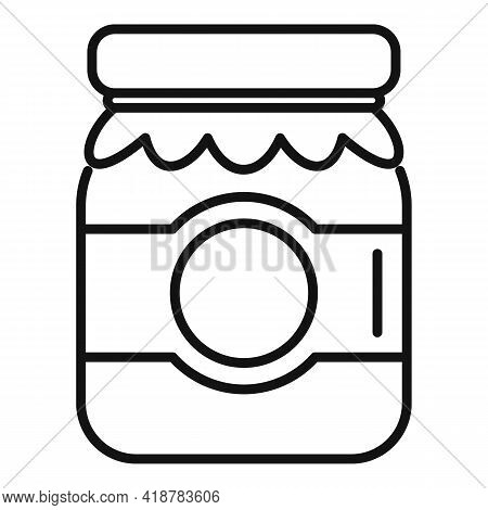 Berry Jam Jar Icon. Outline Berry Jam Jar Vector Icon For Web Design Isolated On White Background